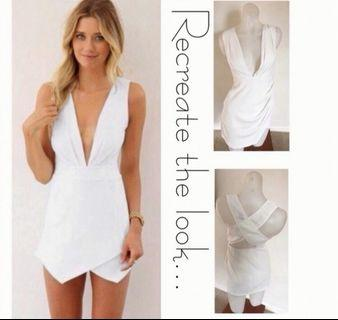 BRAND NEW WITH TAGS: Size 6:white dress