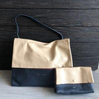 執屋Celine Leather Tote Bag and Cosmetic Bag
