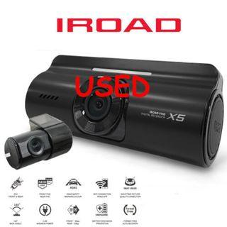 Iroad X5 Pre-owned used Front Rear Car Recorder Camera like new 99.9%