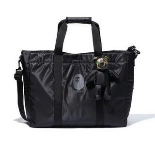 100% Original Bathing Ape Event Free pack Big Size Nylon Sling Bag