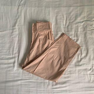 the editors market tem elyssa high waisted pants in nude pink
