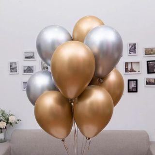 Chrome Gold and Silver Balloons
