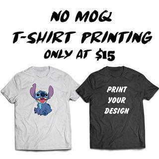 Customise T-shirt Printing