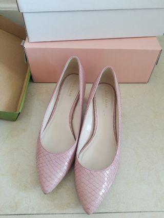 Cole Haan pink leather small heel UK5 (used, good condition)