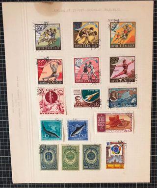外國舊郵票共14頁超過200枚