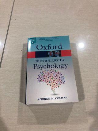 Dictionary for psychology
