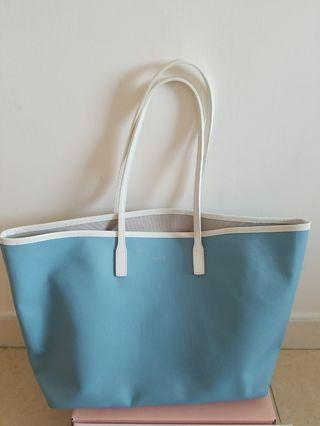 Agnes B Light blue two tone tote bag (used once)