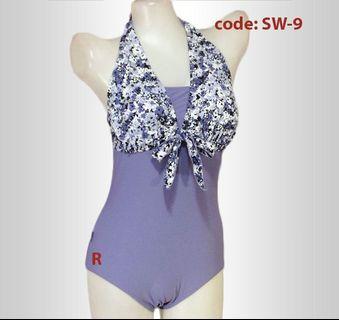 Swimsuit one piece Floral Plain Combination