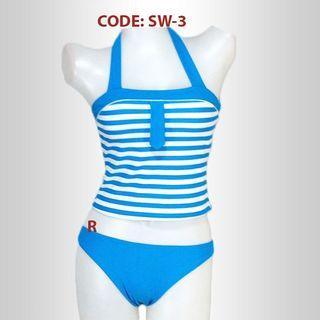 Swimwear two piece Blue Stripes