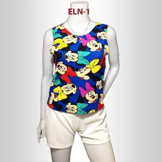 Minnie Mouse Sleeveless Casual Top