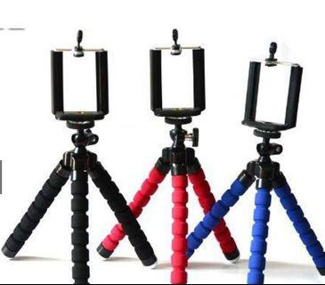 Tripod with Head Clip Mobile Holder
