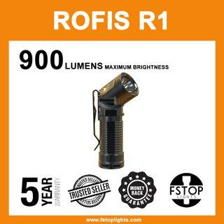 ★ Rofis R1 900 Lumens Adjustable Head Flashlight (Full Set)