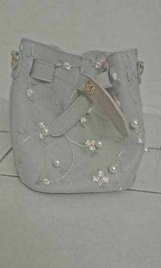 Lace and beads bag