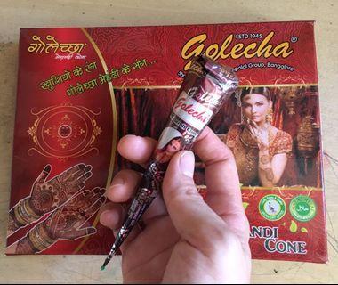 Henna cone 印度天然棕色手繪紋身膏