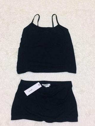 🚚 DKNY 彈性背心+內搭褲 打底衣 休閒服 🎉 ~ uniqlo 無印良品 居家服