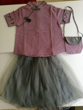 Chinese dress with bag