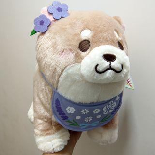 日本景品 忠犬 柴犬 紫花 毛公仔