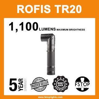 ★ Rofis TR20 1100 Lumens Adjustable Head Flashlight (Full Set)