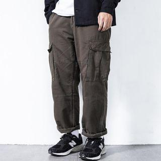JKS A5 六口袋工作長褲 灰綠