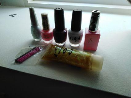 🚚 Nail Polish, glitter, nail art rubber stick