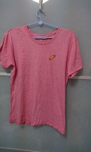 Red & White Stripes Casual Tee, Female M-L