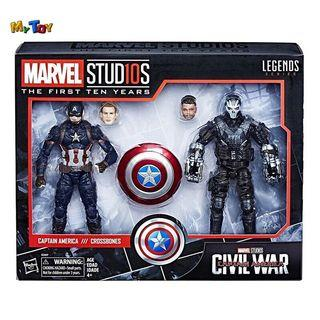 [SPECIAL OFFER] Marvel Studios The First Ten Years 6 Inch Captain America & Crossbone 2-Pack