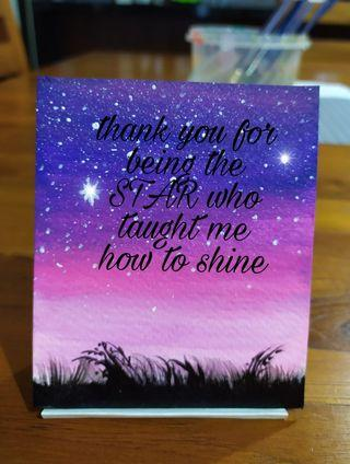 🚚 Set of 5 Teacher's Day mini painting with quotes