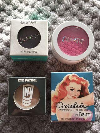 Makeup Bundle Eyeshadow Blush Colourpop Super Shock The Balm Napoleon Perdis