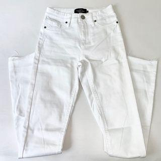 Factorie skinny fit white high waist jean