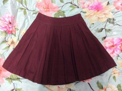 (Free postage) Rope Picnic maroon skirt