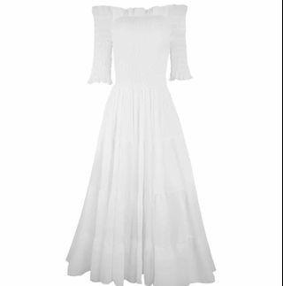 Off Shoulder White Dress Bridal
