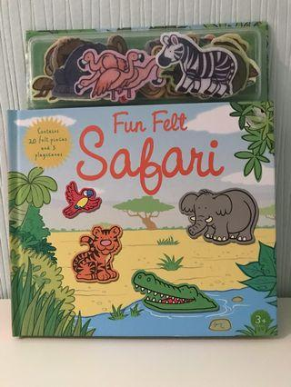 Fun felt Safari activity children book