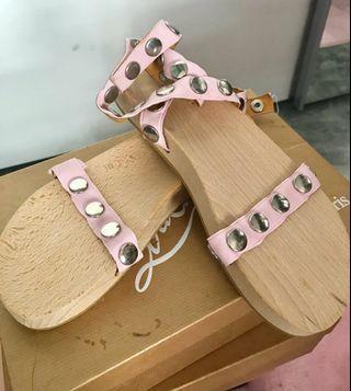 Martin Margiela MM6 pink wooden clog sandals shoes 38