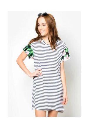 Zalora Contrast striped dress