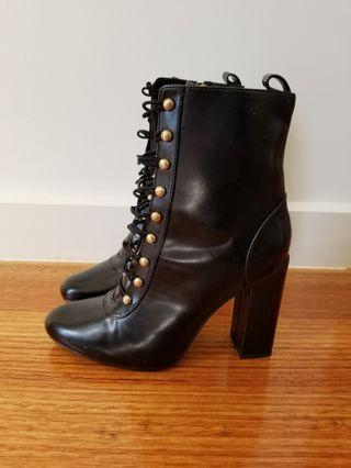 Zara military boots high heel size 39