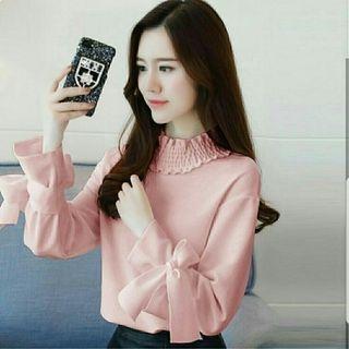 bv blouse lily peach