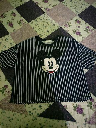 Crop top mickey mouse
