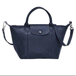 Longchamp LE PLIAGE LEDER 手袋S 海軍藍