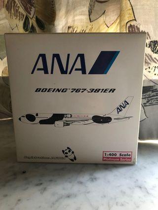 有疹 1:400 Phoenix PH 全日空第一版熊貓機 ANA B767-300ER 20th Panda Jets NH 飛機模型