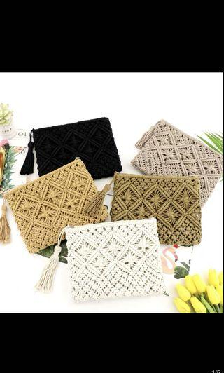 Weave small clutch bag