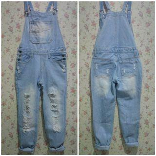 Overall Denim Jeans