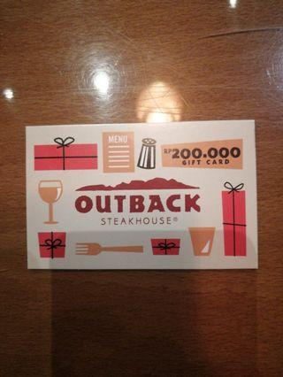 Gift card outback steak 200.000
