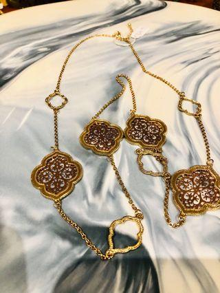Ladies Rose Gold & Gold Long Necklace