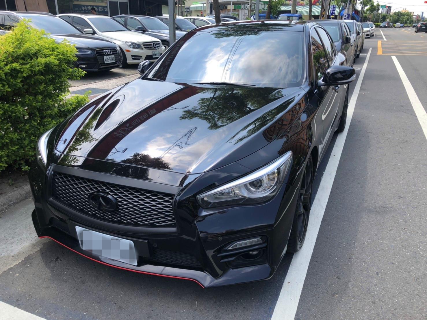 2015年 Q50 黑 2.0 跑7萬 熱門車中古車二手車