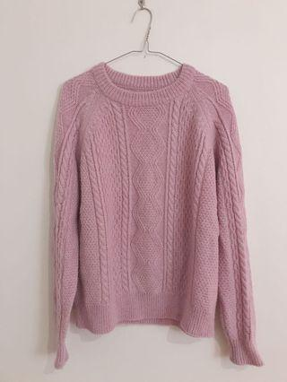 purple oversized cable knit sweater jumper