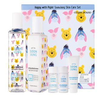 🚚 Etude House Happy with Piglet SoonJung Skin Care Set