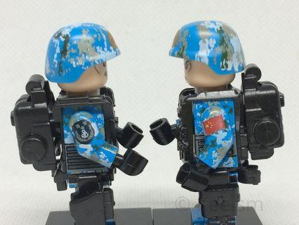 Compatible Lego Minifigures (Not Lego) - PLA Chinese Navy Soldiers (6 soldiers and accessories)