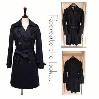 Size 10: Navy Trench Coat