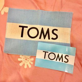 🚚 Toms正版品牌貼紙與帆布標誌