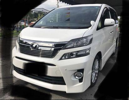Vellfire for rent. Short term available too. Good for family use